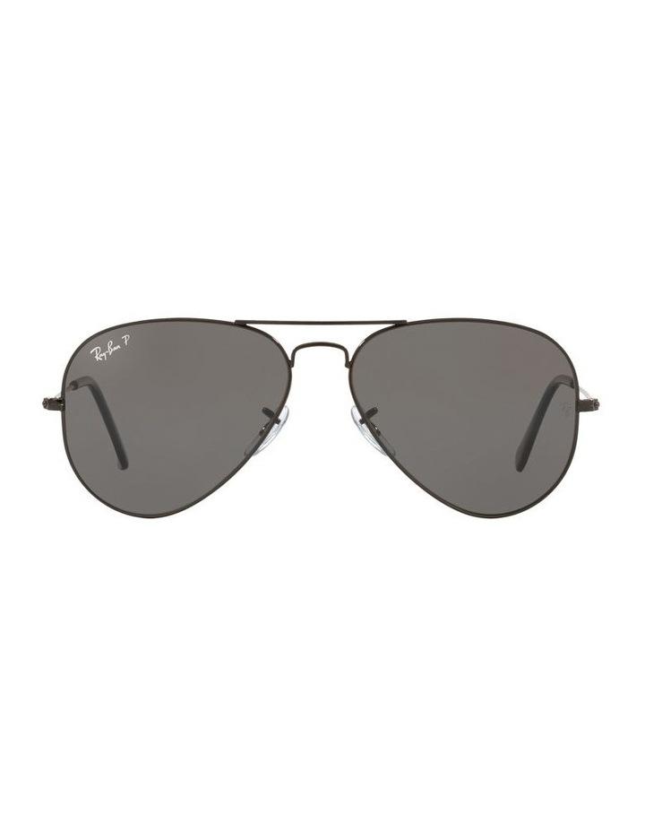 Large Grey Metal Polarised Aviator Sunglasses 0RB3025 1062739161 image 2