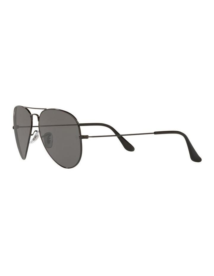 Large Grey Metal Polarised Aviator Sunglasses 0RB3025 1062739161 image 3