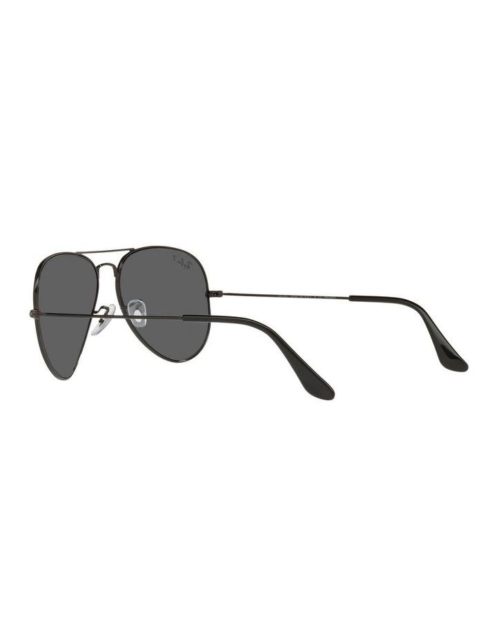 Large Grey Metal Polarised Aviator Sunglasses 0RB3025 1062739161 image 5