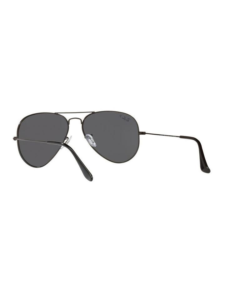 Large Grey Metal Polarised Aviator Sunglasses 0RB3025 1062739161 image 6