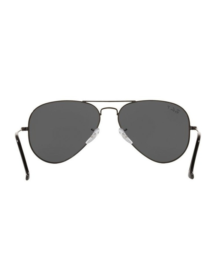 Large Grey Metal Polarised Aviator Sunglasses 0RB3025 1062739161 image 7