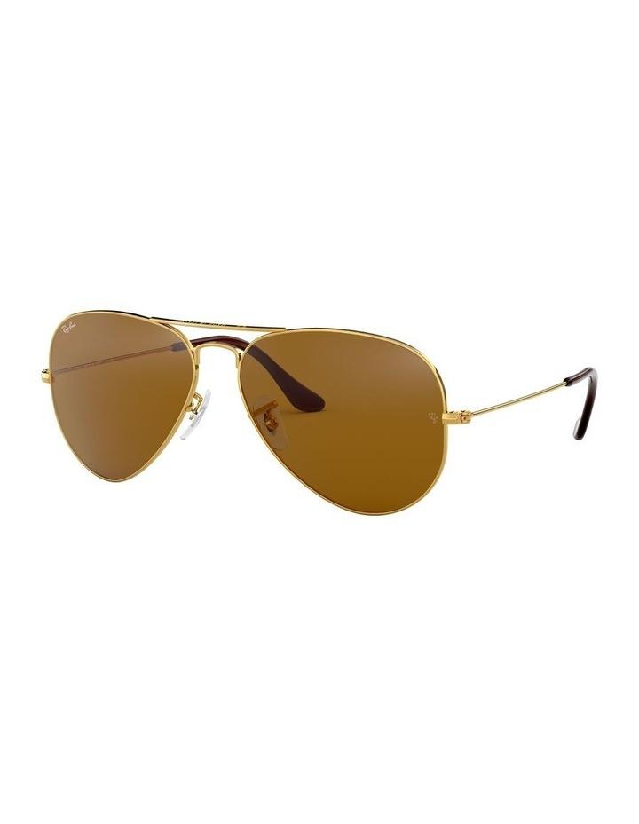 Large Metal Polarised Brown Aviator Sunglasses 0RB3025 1062740037 image 1