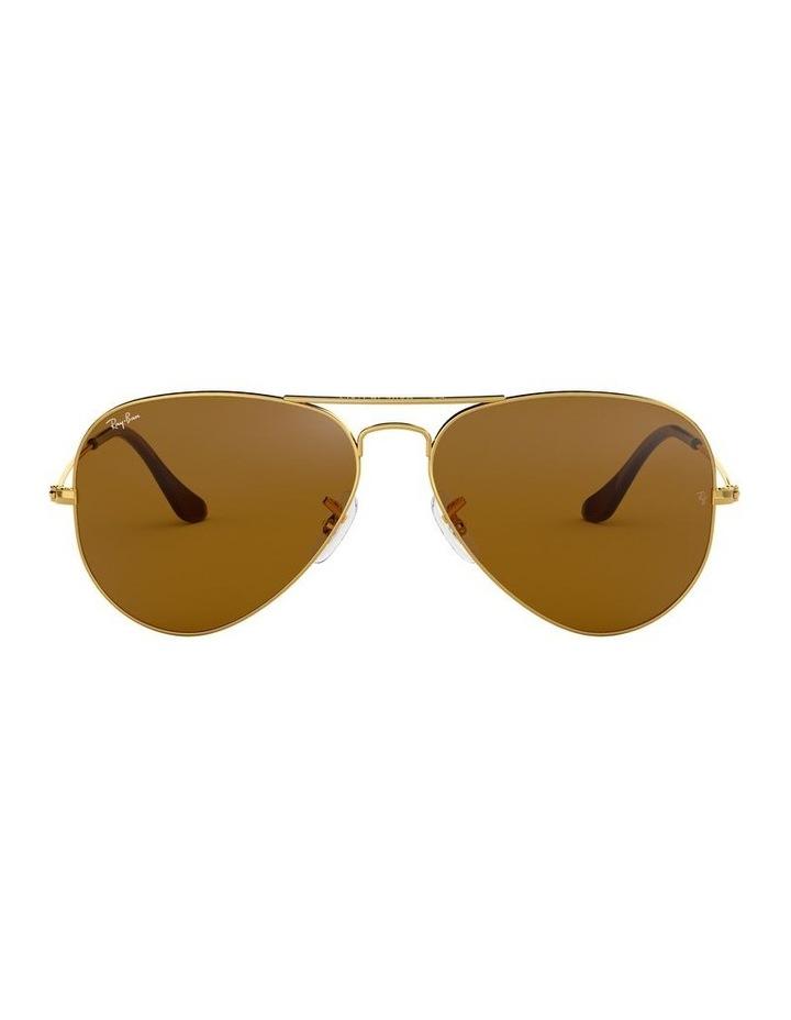 Large Metal Polarised Brown Aviator Sunglasses 0RB3025 1062740037 image 2