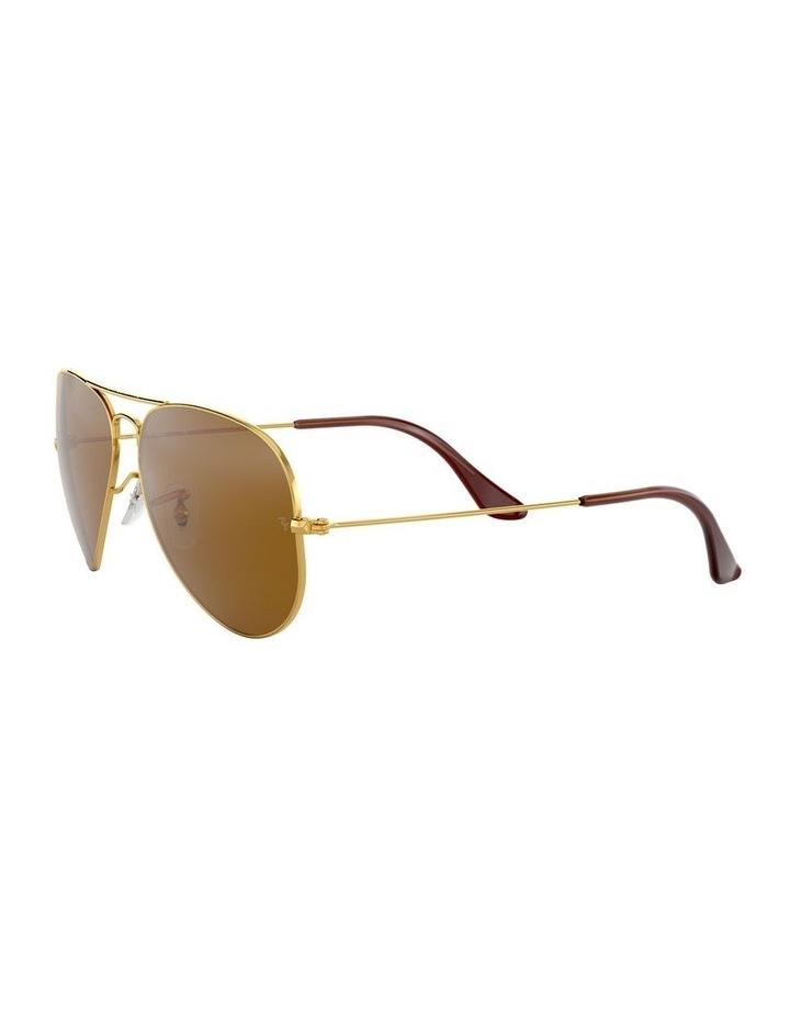 Large Metal Polarised Brown Aviator Sunglasses 0RB3025 1062740037 image 3