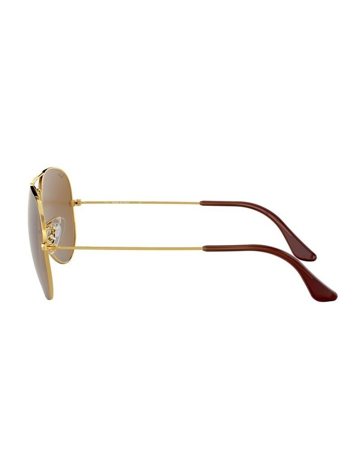 Large Metal Polarised Brown Aviator Sunglasses 0RB3025 1062740037 image 4