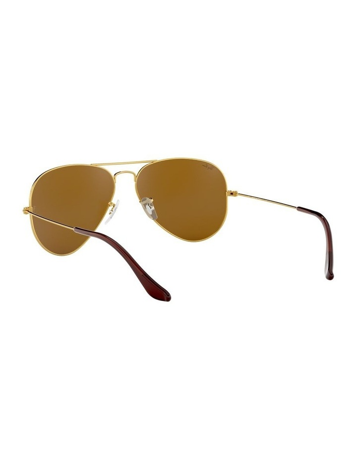 Large Metal Polarised Brown Aviator Sunglasses 0RB3025 1062740037 image 6