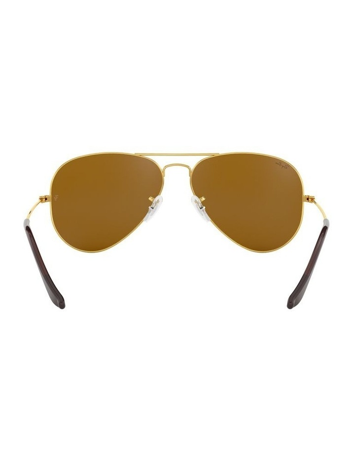 Large Metal Polarised Brown Aviator Sunglasses 0RB3025 1062740037 image 7