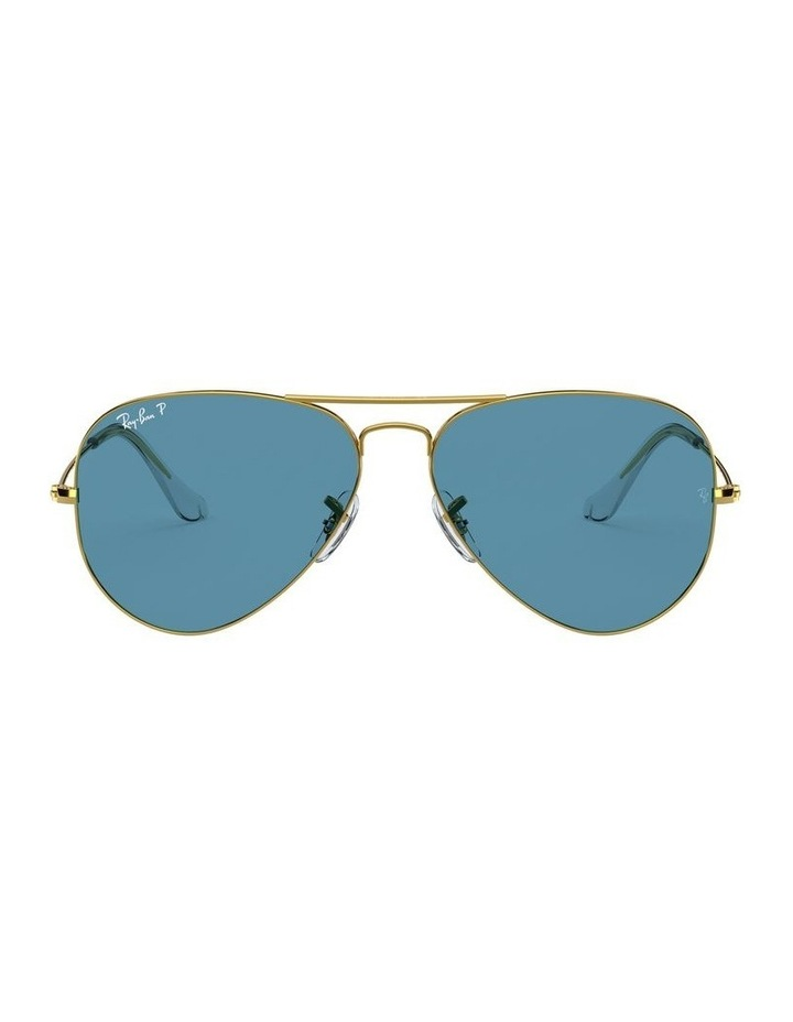 Large Metal Polarised Blue Aviator Sunglasses 0RB3025 1062740076 image 2