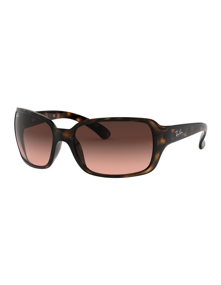 Brown Rectangle Sunglasses 0RB4068 1062940017 image 1