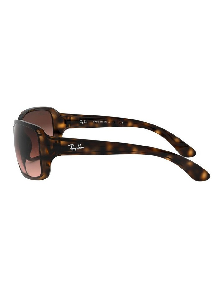 Brown Rectangle Sunglasses 0RB4068 1062940017 image 4