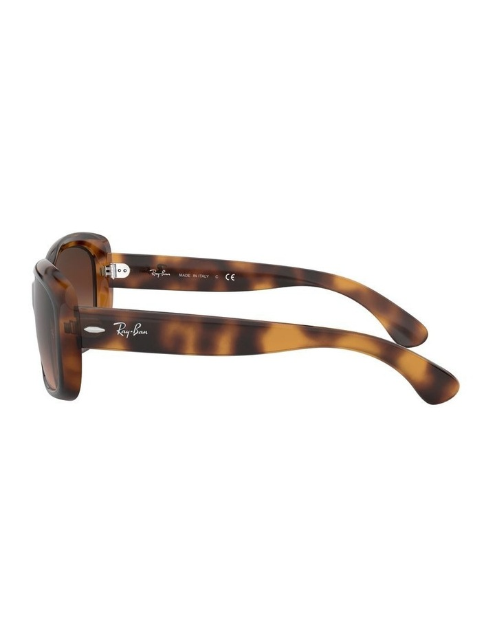 Jackie Ohh Brown Rectangle Sunglasses 0RB4101 1062965038 image 4