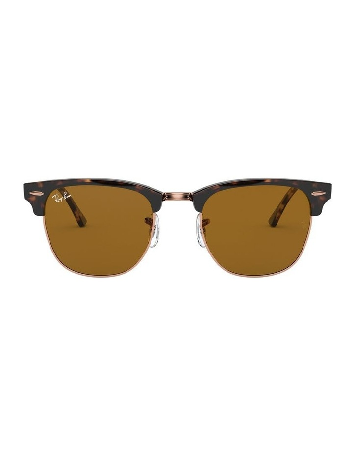 Brown Clubmaster Sunglasses 0RB3016 1130305042 image 2