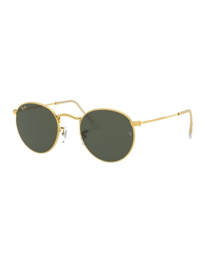 Round Metal Gold 0RB3447 Sunglasses image 1