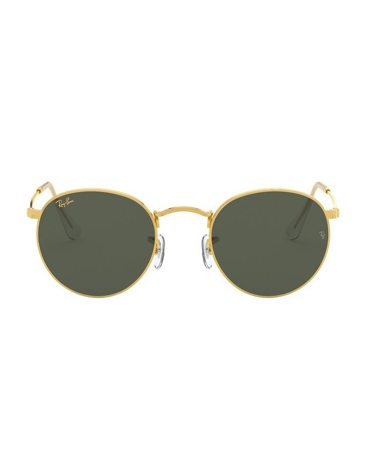 Round Metal Gold 0RB3447 Sunglasses image 2