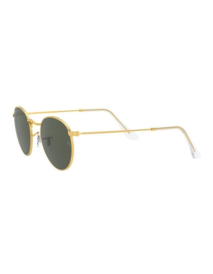 Round Metal Gold 0RB3447 Sunglasses image 3