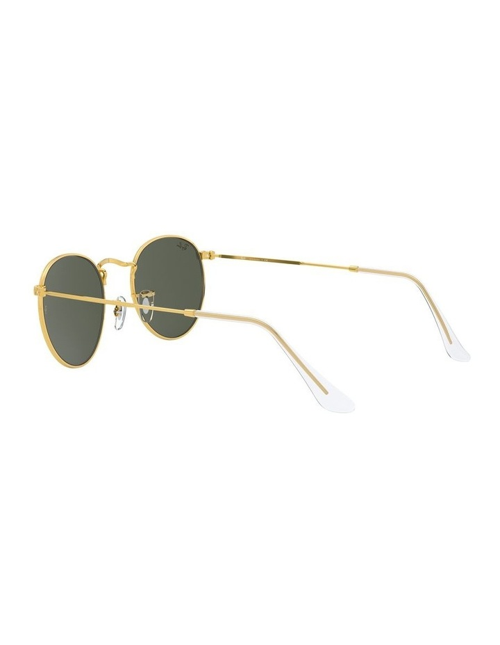 Round Metal Gold 0RB3447 Sunglasses image 5