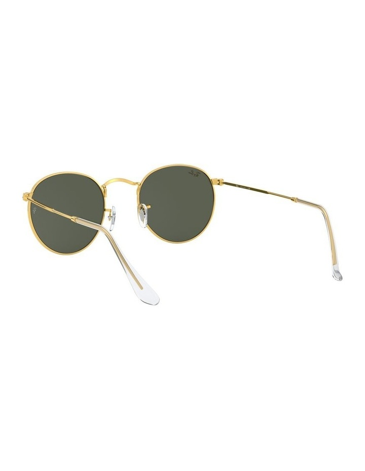 Round Metal Gold 0RB3447 Sunglasses image 6