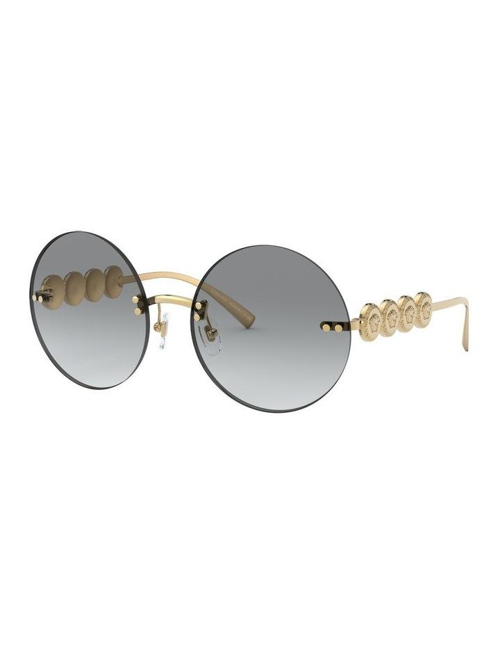 Grey Metal Rimless Round Sunglasses 0VE2214 1527604001 image 2