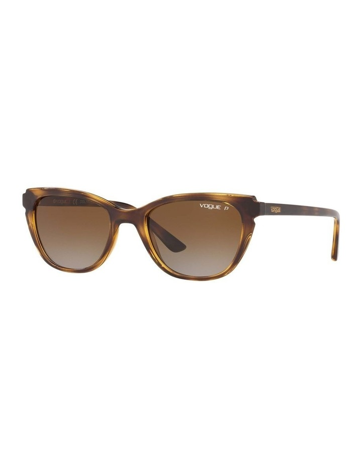 Polarised Brown Rectangle Sunglasses 0VO5293S 1526350003 image 1