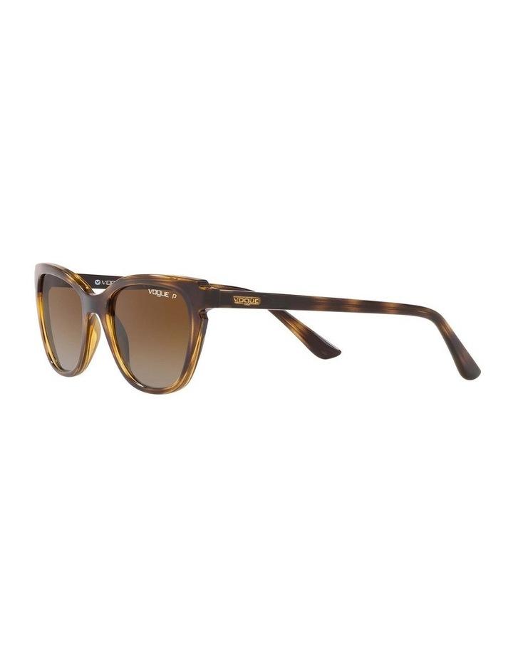 Polarised Brown Rectangle Sunglasses 0VO5293S 1526350003 image 3