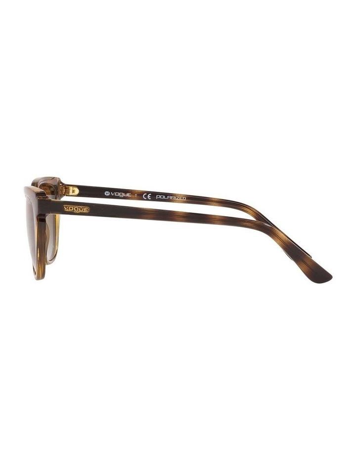 Polarised Brown Rectangle Sunglasses 0VO5293S 1526350003 image 4