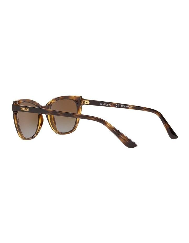 Polarised Brown Rectangle Sunglasses 0VO5293S 1526350003 image 5