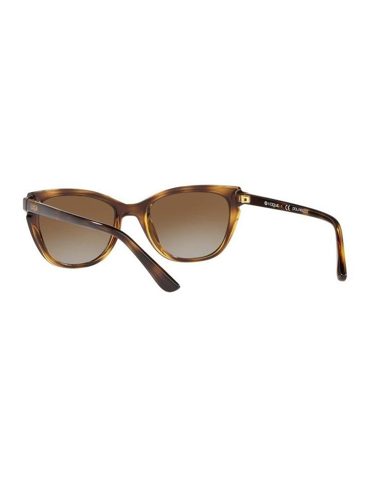 Polarised Brown Rectangle Sunglasses 0VO5293S 1526350003 image 6