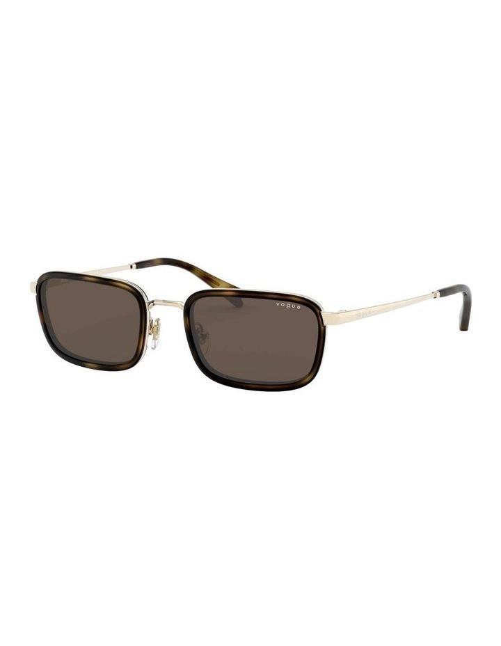 Brown Metal Rectangle Sunglasses 0VO4166S 1529272002 image 1