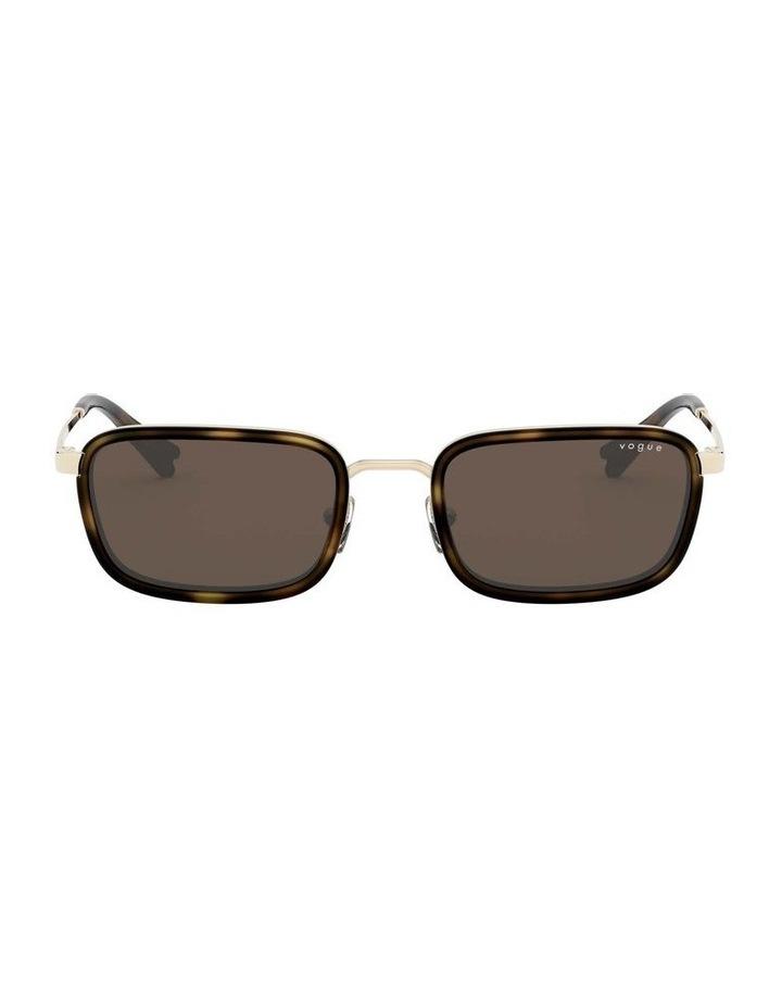Brown Metal Rectangle Sunglasses 0VO4166S 1529272002 image 2
