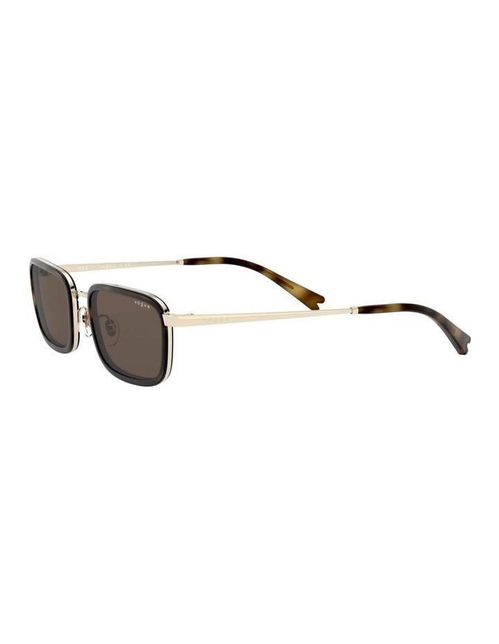 Brown Metal Rectangle Sunglasses 0VO4166S 1529272002 image 3