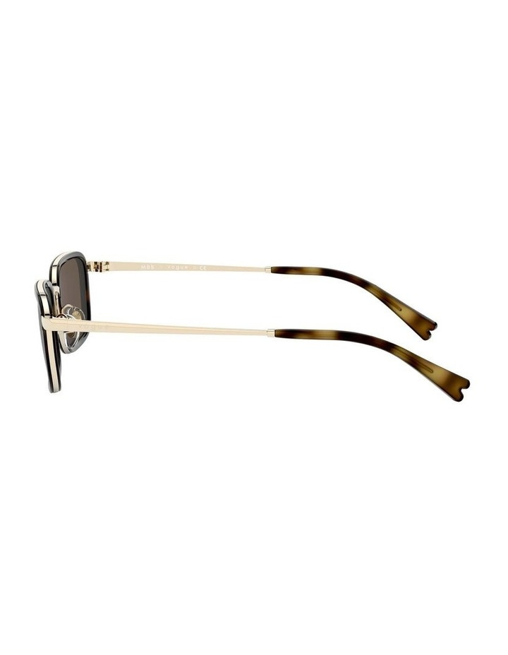 Brown Metal Rectangle Sunglasses 0VO4166S 1529272002 image 4