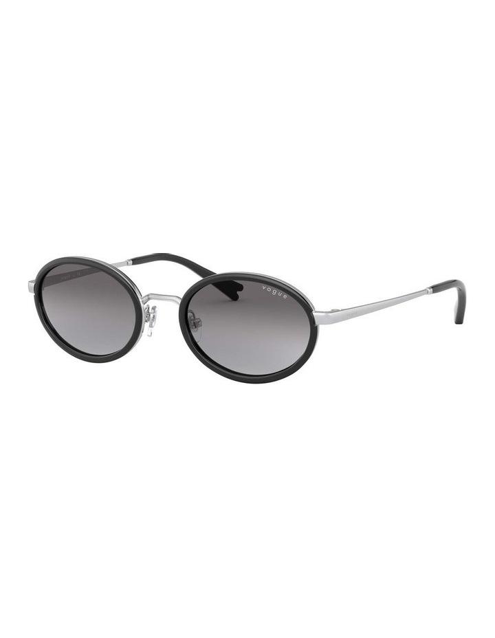 Grey Metal Oval Sunglasses 0VO4167S 1529275001 image 1
