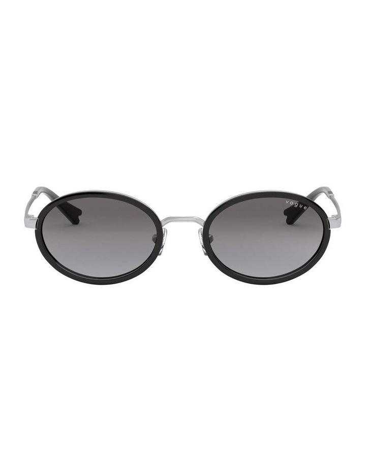 Grey Metal Oval Sunglasses 0VO4167S 1529275001 image 2