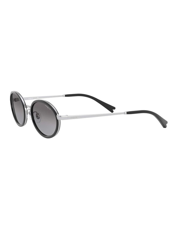 Grey Metal Oval Sunglasses 0VO4167S 1529275001 image 3