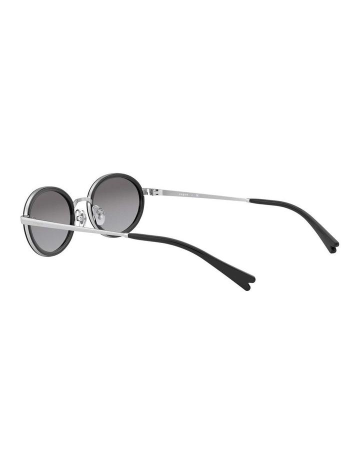 Grey Metal Oval Sunglasses 0VO4167S 1529275001 image 5