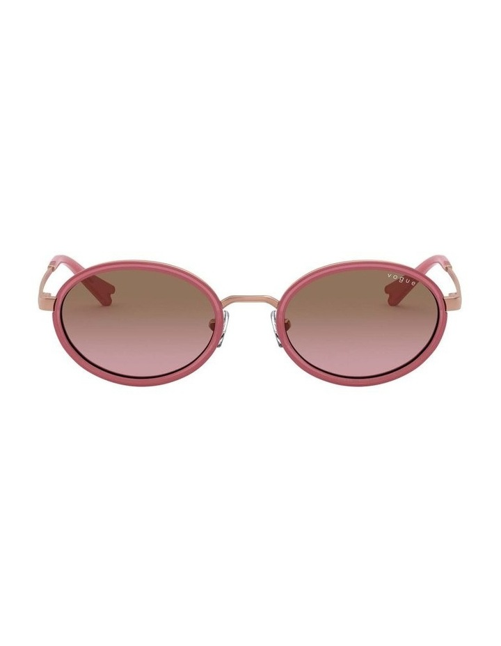 Brown Metal Oval Sunglasses 0VO4167S 1529275002 image 2