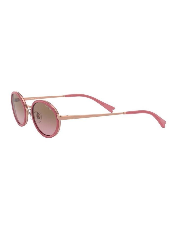 Brown Metal Oval Sunglasses 0VO4167S 1529275002 image 3