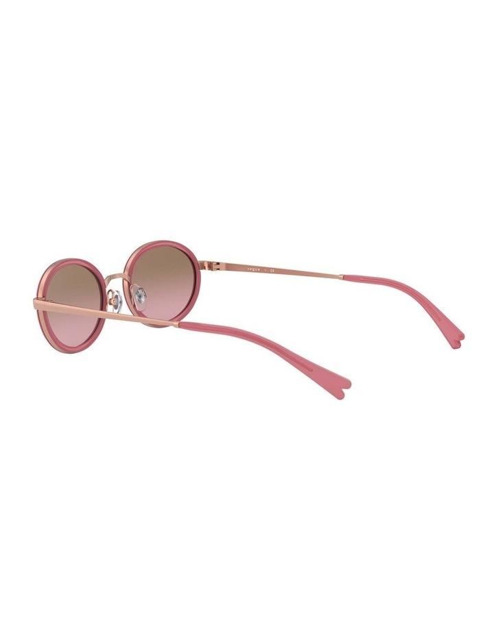 Brown Metal Oval Sunglasses 0VO4167S 1529275002 image 5