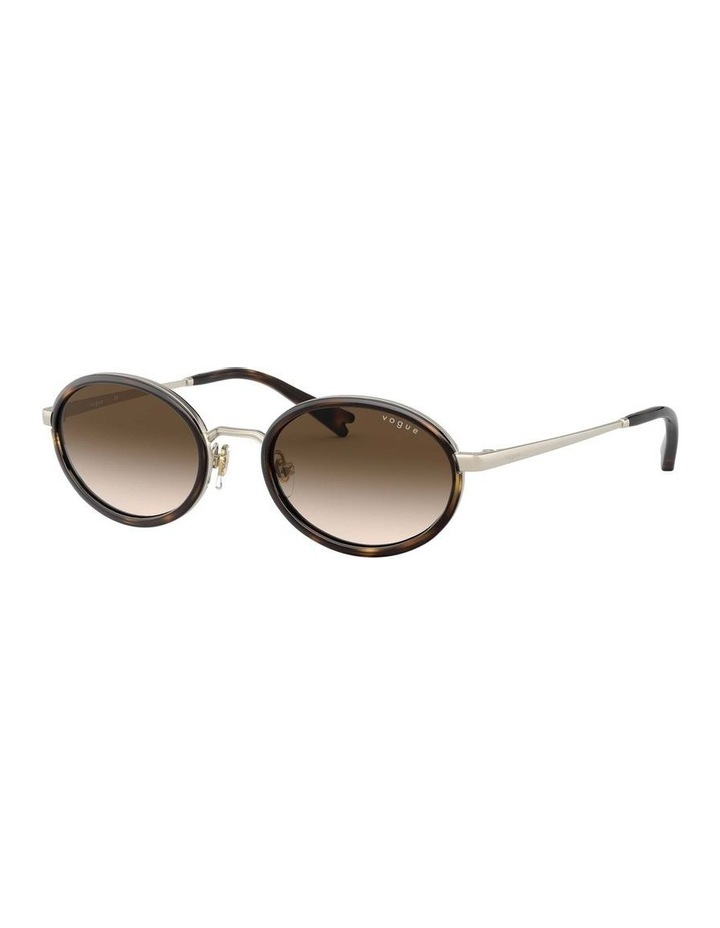 Brown Metal Oval Sunglasses 0VO4167S 1529275004 image 1