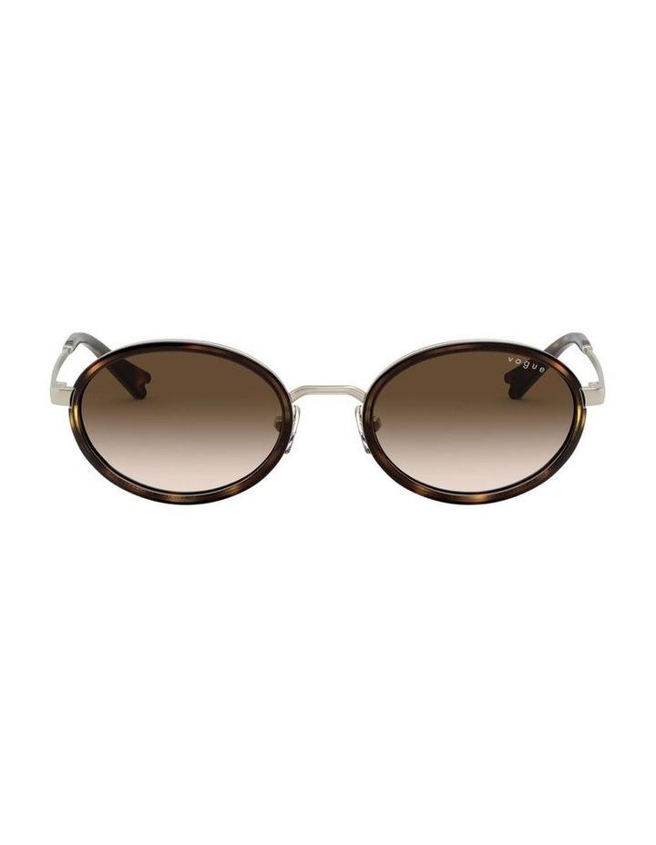 Brown Metal Oval Sunglasses 0VO4167S 1529275004 image 2