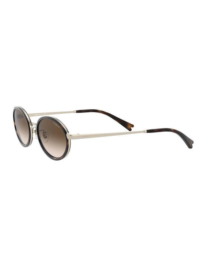 Brown Metal Oval Sunglasses 0VO4167S 1529275004 image 3