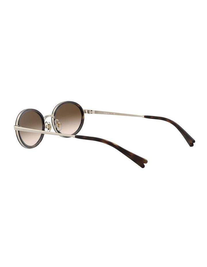 Brown Metal Oval Sunglasses 0VO4167S 1529275004 image 5