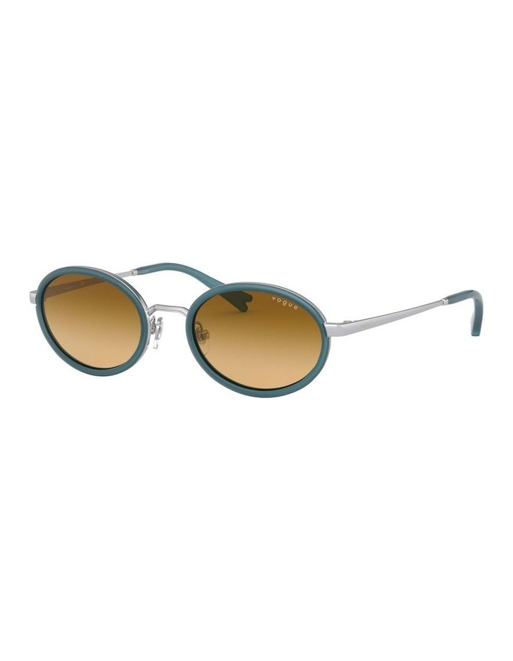Brown Metal Oval Sunglasses 0VO4167S 1529275005 image 1