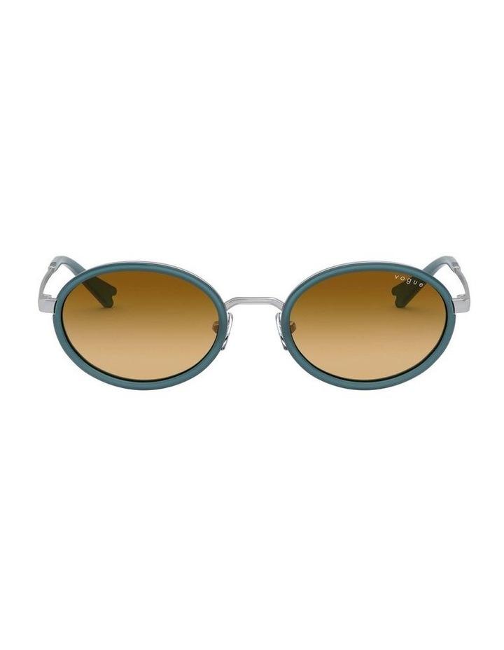 Brown Metal Oval Sunglasses 0VO4167S 1529275005 image 2