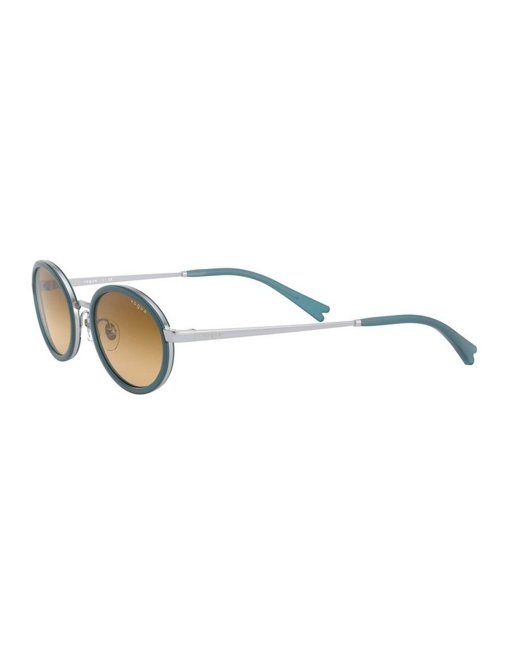 Brown Metal Oval Sunglasses 0VO4167S 1529275005 image 3