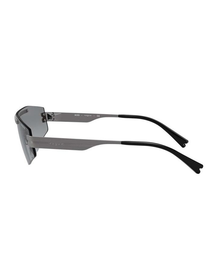 Grey Metal Shield Sunglasses 0VO4165S 1530181001 image 4