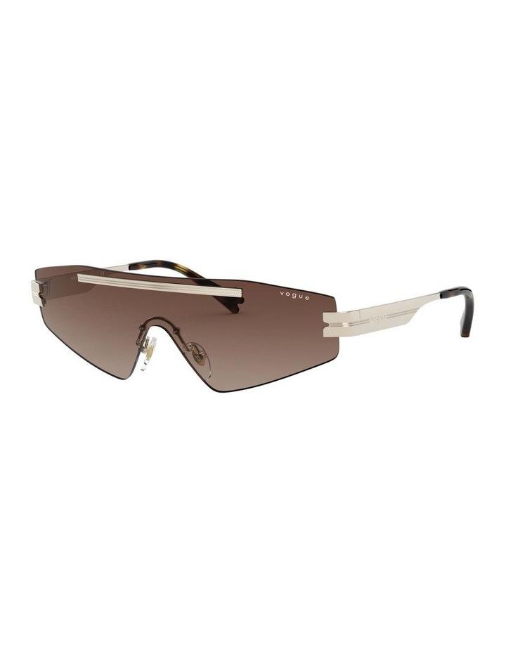 Brown Metal Shield Sunglasses 0VO4165S 1530181002 image 1