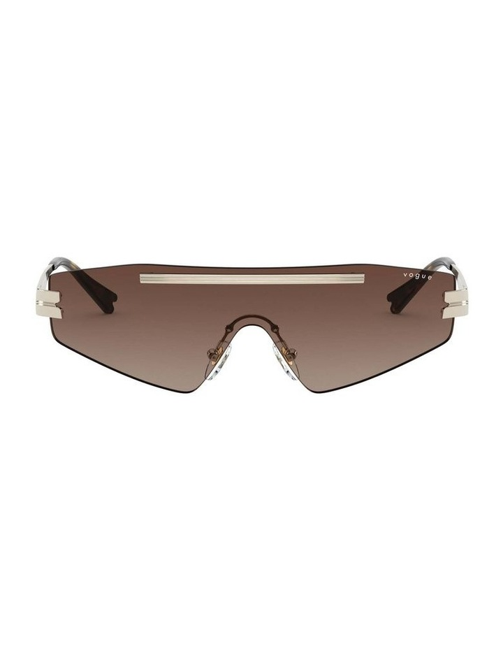 Brown Metal Shield Sunglasses 0VO4165S 1530181002 image 2