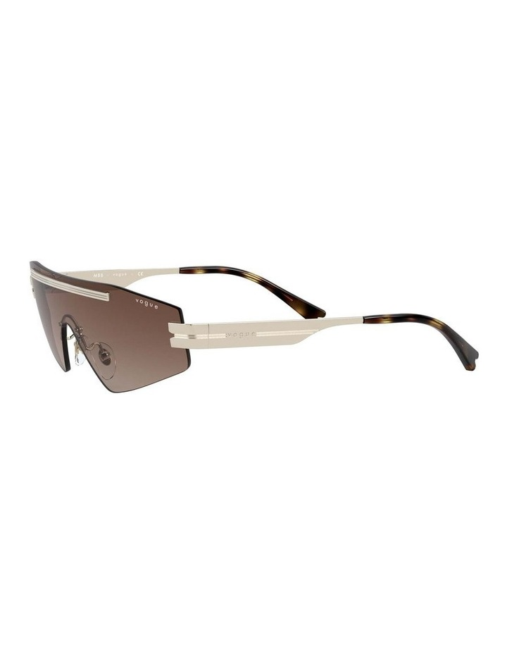 Brown Metal Shield Sunglasses 0VO4165S 1530181002 image 3