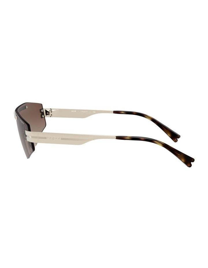 Brown Metal Shield Sunglasses 0VO4165S 1530181002 image 4